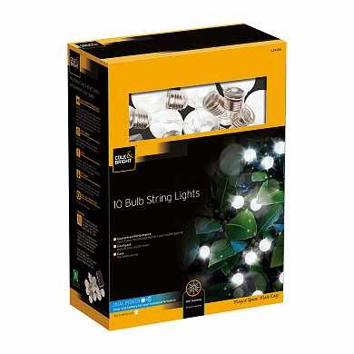 Гирлянда 10 Clear bulb string lights (10 ламп) (арт. L24305)