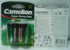Батарейка Camelion Heavy Duty Green R14/343 Bl2 (арт. 3806)